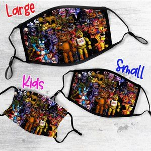 Five Nights At Freddys Face Mask Adult or Kids